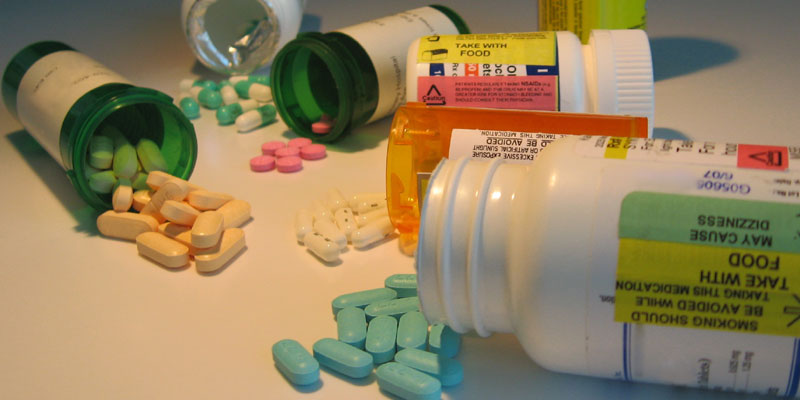 Picture of pills and pill bottles