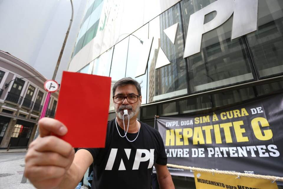 The people against Gilead  Activists protest at the Brazilian patent